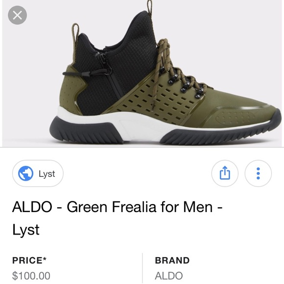 c0710d8a92c8 SALE 👟 ALDO Green Frealia Men s Sneakers Size 9